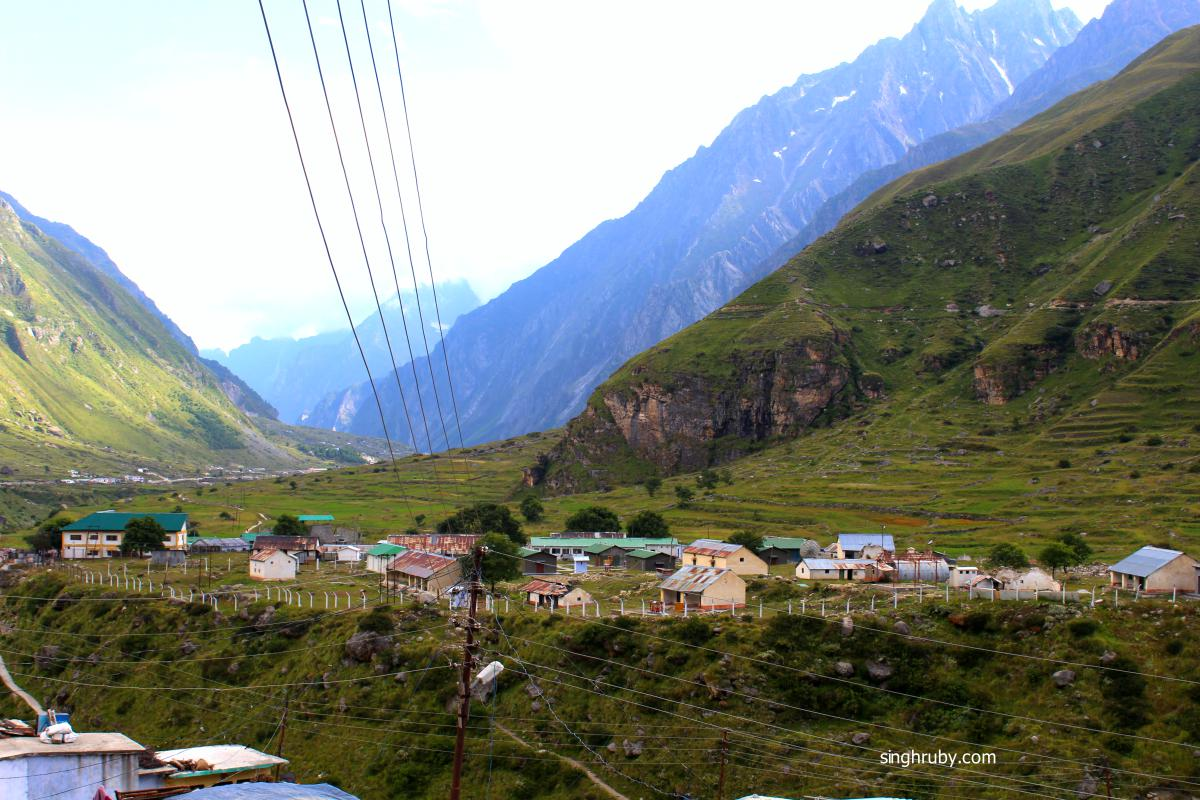 Mana Village, the houses were small cute. It looked like a picture out of a story book.