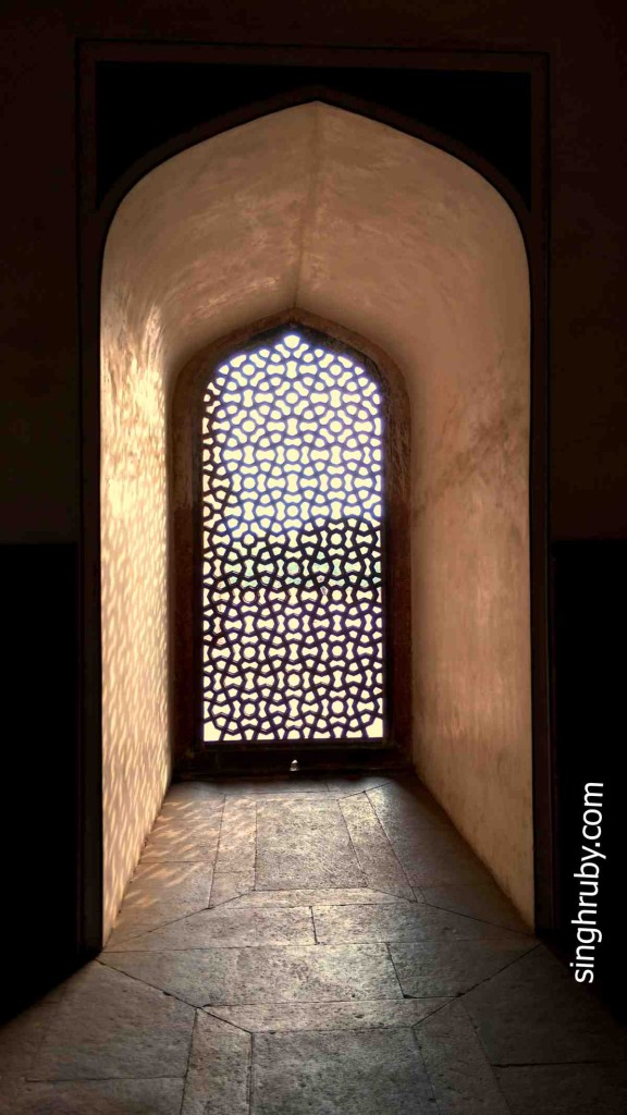 Sunlight from the Jaali structure