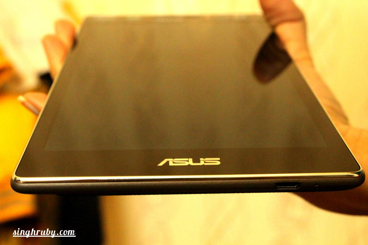 Asus ZenPad 7 fits well in the hands.
