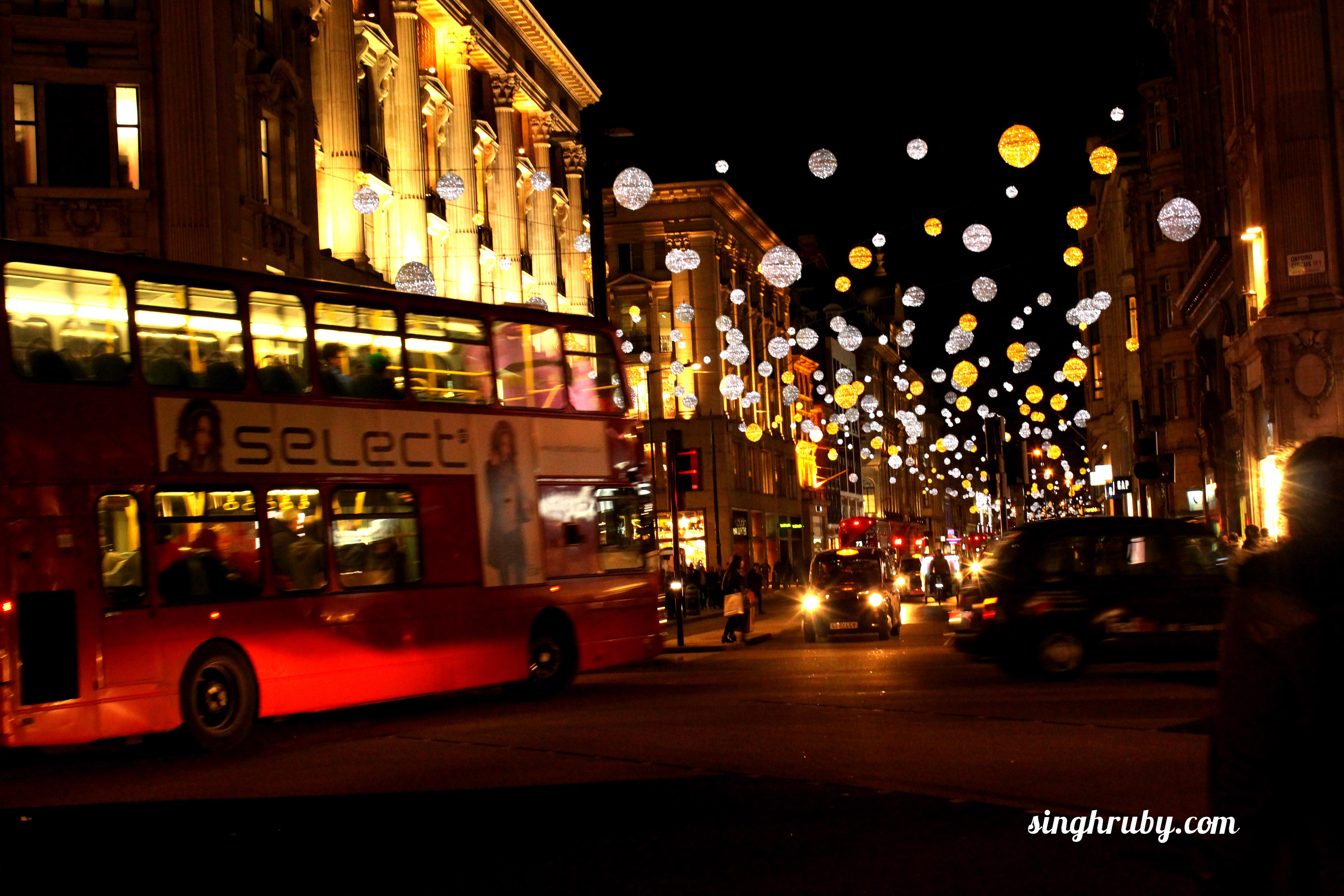Glittery streets of London