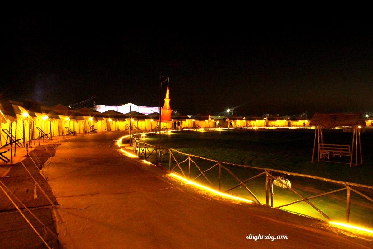 Rann City at night