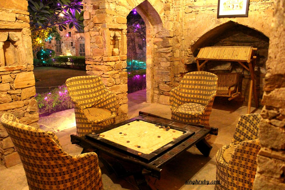 Seating area at Dadhikar Fort