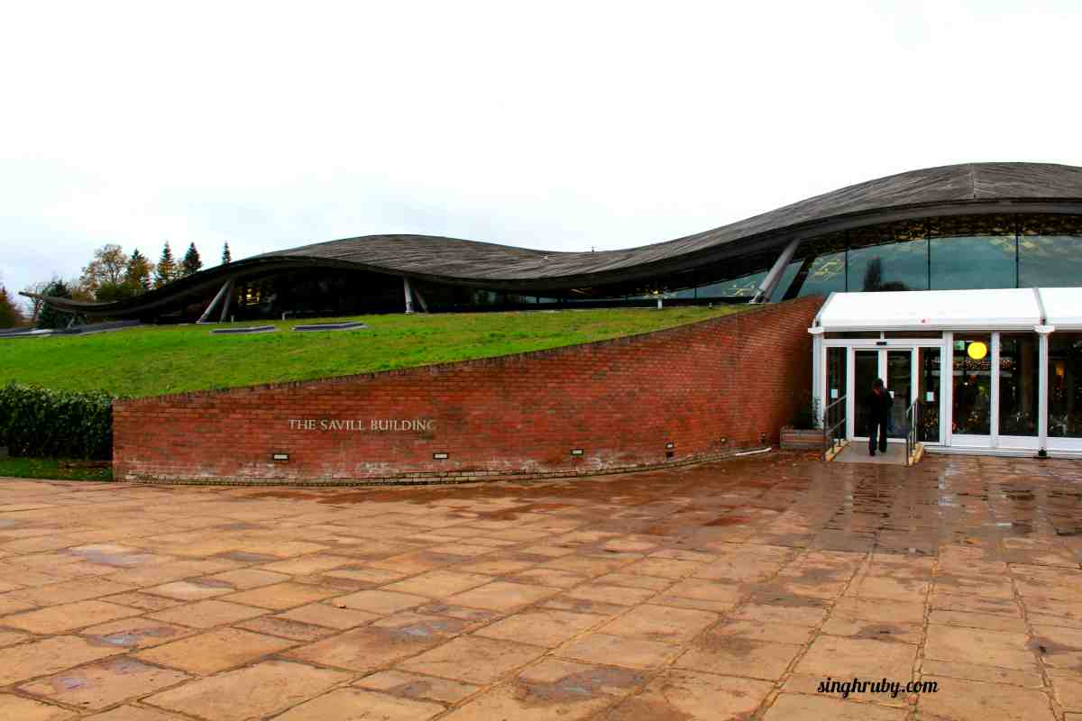Front of the Savill Building at Windsor Great Park