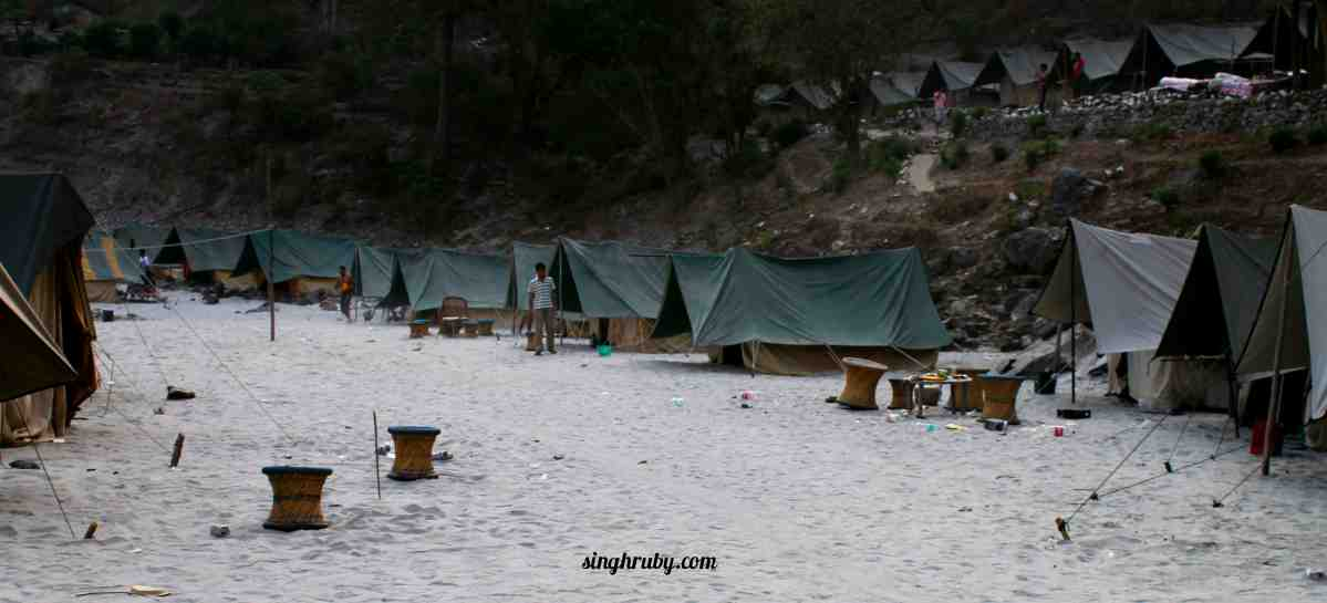 Tents by Ganges Bank